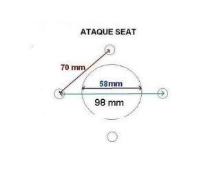 PLATO O BUJE DE 750 A 1350 KG SIN FRENO Y CON ATAQUE SEAT DE 4TX98 CON RODAMIENTOS. REF : 5925900AF