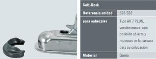 protector de cabezal de remolque. 693552 (CORTO NEGRO) SOFT-DOCK