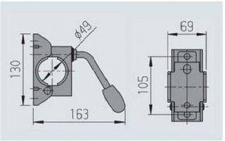 Abrazadera para rueda jockey de Ø 48mm. Estribo para soporte de remolque y rueda de apoyo (48 mm)