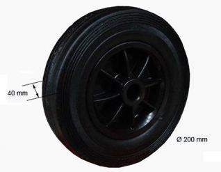 rueda en plastico 200x50x20 340050. 340050