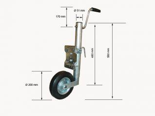 rueda jockey LM 51 giratoria ref 345213