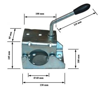 Abrazadera rueda jockey de ø60mm - 15254/340007