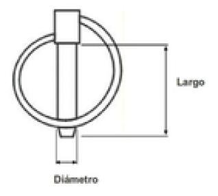 PASADOR DE ANILLA 35X4.5   DIAMETRO 4.5 mm  LARGO 35 mm  acabado zincado.