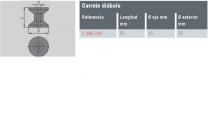 CARRETE DIABOLO 75X75X13 / REF : 1296039