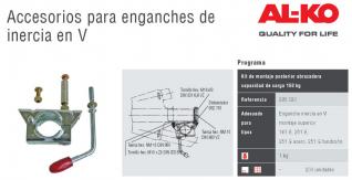kit montaje posterior abrazadera 48 mm / ref : 293020  capacidad de carga 150 kg  para engaches en V de la marca al-ko :  161 S  251 S  251 G ACERO  251 G FUNDICION