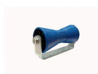 Rodillo quilla con soporte para soldar. Conjunto soporte de quilla p/soldar grande zincado R.206×98 16mm azul. 580041