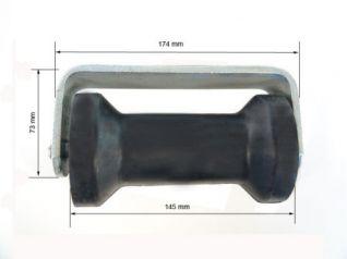 Rodillo quilla con soporte para soldar. Conjunto soporte de quilla para soldar zincado. 580040