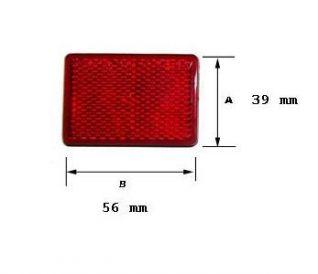 Catadióptrico rectangular rojo. 56x39mm ref:2604022