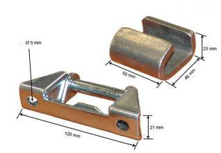 Bisagra para puerta de remolque. Bisagra lateral abatible 25mm completa 040014