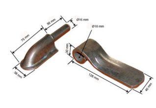 Bisagra de caparazon con uña curva 040162