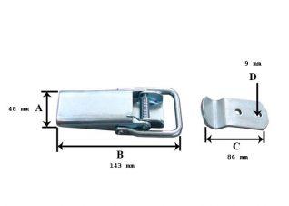 Cierre palanca. Cierre tipo palanca palanca 190015. vienen en cajas de 69 piezas.