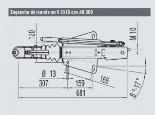 Enganche Alko  en V para 2600kg.(247581)