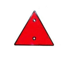 Refletante triangular rojo.