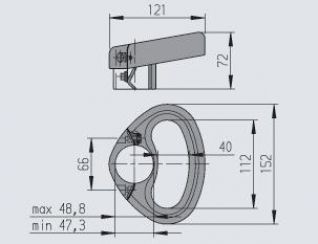 Empuñadura para rueda jockey de Ø 48mm marca Alko.