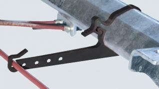 Soporte para cables bowden 80mm REF:692045 para turbo exagonal de 80mm