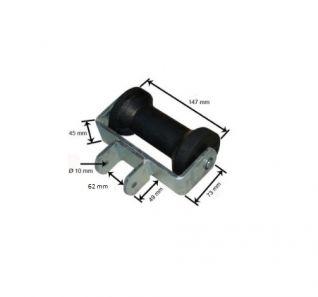 Rodillo quilla con soporte. 60mm