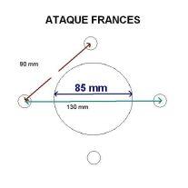 Rueda 185/70 R13 ataque frances