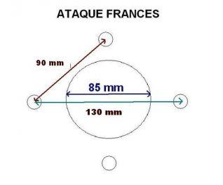 llanta accesorio recambio de remolque 4.00xJ13 frances