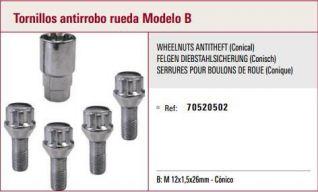 Tornillo antirrobo de rueda M12x1.5x26-70520512