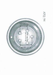 llanta accesorio recambio de remolque 5.00xJ14 ATQ.94
