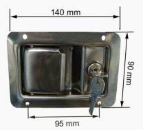 Cierre d.bodega inox 140mm / 190036