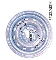 RUEDA COMPLETA 165/80-13 MERCEDES / 440172