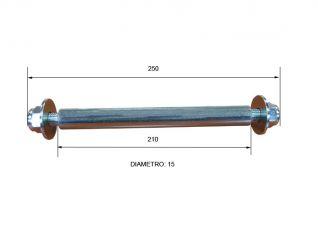 eje de rodillo 210 mm 280001/D42204